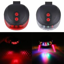 5 LED 2 Laser Beam Cycling Bicycle Tail Light Bike Night Ride Safety Rear Lamp