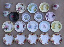 ROYAL ALBERT - SELECTION OF ASSORTED CUPS, SAUCERS & TEA PLATES.
