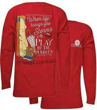 Southern Couture Play In Puddles Comfort Colors Bright Long Sleeve Girlie TShirt