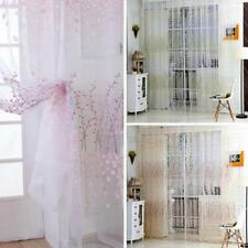 Plum Pattern Wintersweet Window Sheer Balcony Tulle Decor Curtain Panel Drape