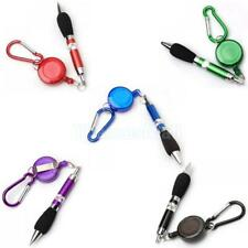 Retractable Badge Reel Golf Scoring Ball Pen Belt Clip Carabiner Snap Hook