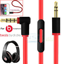 Replacement 3.5mm Mic Remote Talk Audio Cable For Beats by Dr. Dre Headphones