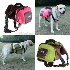 Pet Dog Puppy Saddle Bag Backpack Outdoor Hiking Camping Travel Jogging S-XL