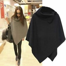 Women Ladies Batwing Poncho Winter Cardigan Coat Jacket Loose Cloak Cape Parka