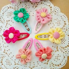 10pcs/lot Kids Baby Girls Flowers Hair Clips Hairpins Barrette Hair accessories