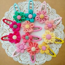 12pcs/lot colorful Flower mix Kids Baby Girls Hair Clips Hairpins Barrettes