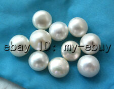 Wholesale 10PCS Half Drilled White Freshwater Pearl Loose Beads DIY