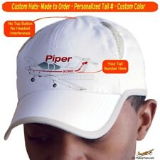 Piper Tomahawk PA-38 Cap Custom Airplane Pilot Hat - Personalized with Your N#