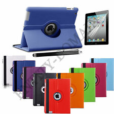 360 Degree Smart Leather Rotating Stand Case Cover For iPad 2 iPad 3 & iPad 4