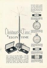 Vintage Magazine Ad - 1927 - Elgin Watch - Christmas