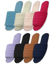 Women's Cotton House Terry Slippers Black White Blue Pink Red Sizes M L XL New
