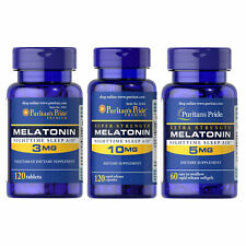 Puritan's Pride Melatonin 120-840Tabl Natural Sleep Improve Quality Sleeping Aid