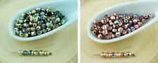 100pcs Crystal Rainbow Round Czech Glass Beads Faceted Fire Polished Small Space