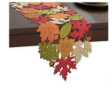 Fall Leaves Autumn Dining Table Runner Party Decor Banquet Colors Thanksgiving