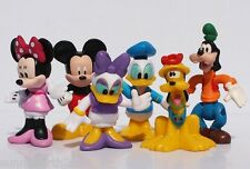 DISNEY CLUBHOUSE MICKEY MINNIE DONALD DAISY GOOFY FIGURES CAKE TOPPERS RIBBON