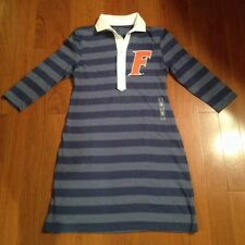 University of Florida Gators Ladies Womens Junior Dress Blue Stripes New Medium