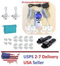 TENS Unit Tens Massager Digital Therapy Acupuncture Pads Machine White II 7000