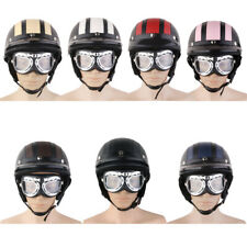 Open Face Scooter Motorcycle Motorbike Cycling Helmet Goggles Sun Visor