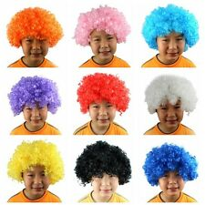 Multi Color Afro Wig Clown Disco Circus Costume Curly Hair Wig Adult Child New