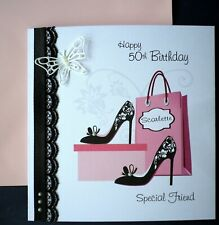 personalised hand made birthday card.ANY AGE / Special Friend, Mum, Grandma, etc