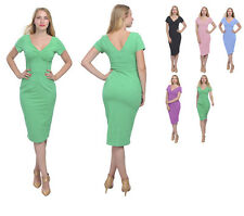 WOMEN'S SUMMER VINTAGE 1960S WIGGLE PENCIL DRESS SHEATH MIDI DRESSES DAY EVENING
