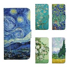 Van Gogh Patterned Wallet Flip Case Cover For iPhone 5 5S SE 6 6S 7 Plus 158C