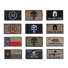 1Pc Punisher Skull Swat USA Army US Military Tactical Velcro Morale Badge Patch