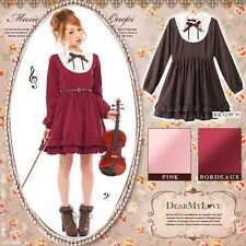Sweet Lolita Vintage Embroidery Slim Fit Gothic Dress Princess Long Sleeve#34D70
