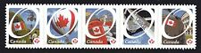 2011 SC# 2423i Canadian Pride strip of 5 O Canada die cut to shape Lot237b M-NH