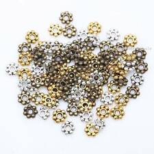 Charm 100-1000Pcs Tibetan Silver/Golden/Bronze Daisy Spacer Beads Findings 4/6mm