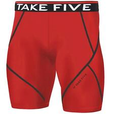 New Mens Baselayer Red Shorts Pants Armour Compression Tights Trousers Gym