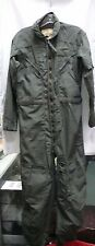 USAF CWU-27/P 1979 NOMEX FLIGHT SUIT COVERALLS, FLYER'S SAGE GREEN 38L NWOT