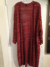 Women's Light sheer Summer fall long Sweater jacket duster Cardigan plus 2X3X$60