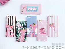 Matte pink panther Korean Candy soft thin case cover skin for iPhone 6/6s & plus