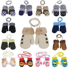 Lovely Newborn Baby Kids Girls Boys Gloves Winter Warm Stretchy Knitted Mittens