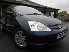 Honda Civic 1.6Li VTEC SE Executive 110bhp 5 Door Manual Hatchback 2002 Blue