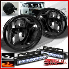 Fits White/Amb LED Bumper Lamp+Smoke 05-07 Armada 04-12 Titan Fog Lights