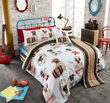 5Pc Pug Fashion Cotton Bed In A Bag Duvet Cover Set Bed Runner