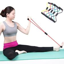 Elastic Exercise Bands Resistance Rope Tubes Pilates Yoga Workout Fitness Tools