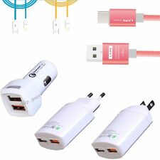 USB Charging Adapter EU/US Plug / Cable Wire Car Adaptive Fast Charger for Phone
