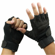 Outdoor Half Finger Gloves Military Tactical Airsoft Hunting Riding Cycling CN