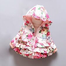 Winter Baby Kids Girls Hooded Hoodie Down Coat Jacket Outwear Toddler Clothes