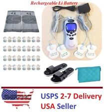 TENS Unit Tens Massager Digital Therapy Acupuncture Pads Machine TWO outputs I