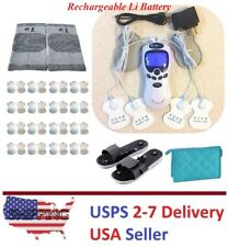 TENS Unit Rechargeable TENS Massager Digital Therapy Acupuncture Pads Machine I
