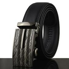 Luxury Mens Leather Auto Buckle Waist Strap Belt Waistband Ratchet Dress Belt