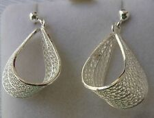 NEW 925 Sterling Silver Filigree Hand Crafted Earrings from Malta