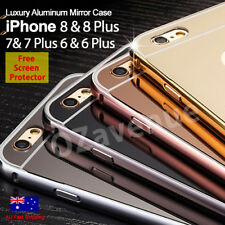 For iPhone 6 6s 7 / 7 PLUS Luxury Aluminum Ultra-thin Mirror Metal Case Cover