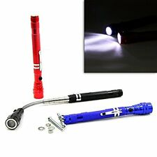 TIROL 3 LED Flashlight Magnetic Torch Telescopic Lamp Pick Up Tool