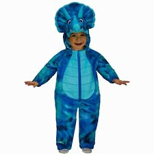 Infant Toddler Totally Ghoul Blue Dino Monster Halloween Costumes 12-18M-4-6T
