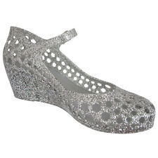 NEW Womens shoes Isobel Silver Wedges Mary Jane Shoes Jelly Shoes